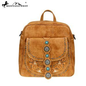 Montana West Concho Collection Backpack/Crossbody